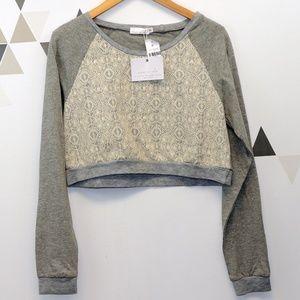 LF Tops - Story of Lola / LF Lace Crop Sweatshirt